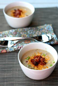 Slowcooker Loaded Potato Soup
