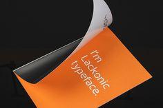 Lackonic Typeface by Pedro Matos, via Behance