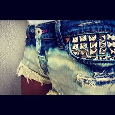 Studded Shorts.. Summer come back!