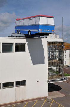 public art installation by Richard Wilson: 'Hang On A Minute Lads, I've Got A Great Idea'