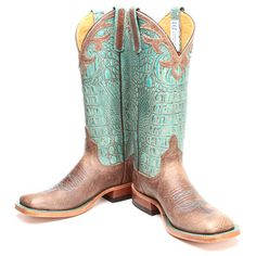 BootDaddy Collection with Anderson Bean Turquoise Bombshell Cowgirl Boots
