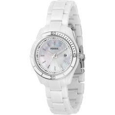 Fossil Women's ES2544 Stella Mini White Mother-Of-Pearl Dial Watch $61.68