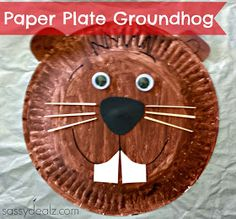 paper plate groundhog day craft