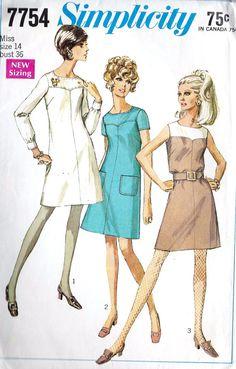 1960s A line Dress Vintage Sewing Pattern Short by MissBettysAttic, $8.00