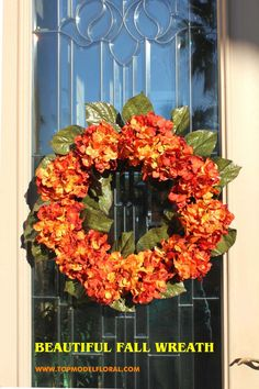 top model floral_fall wreath_front door wreath_thanksgiving ideas