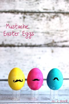 Mustache Easter Eggs - A trendy take on a traditional Easter craft idea.