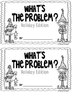 "what's the problem holiday edition...my students love creating the problem.  can use for ""unknown"" problems"
