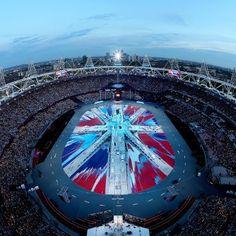 Olympic stadium closing ceremony London 2012