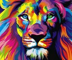 Colorful lion ... tattoo idea?