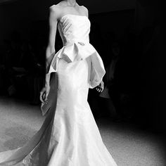 Brides: Spring 2013 Wedding Dress Trends: Peplums | Brides.com