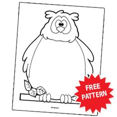 FREE OWL Print-and-Use Pattern~  Use a copy of this page for a newsletter, a parent note, a booklist, or a student's creative writing. Or have students cut out copies of the pattern and use them for a fall-themed display.