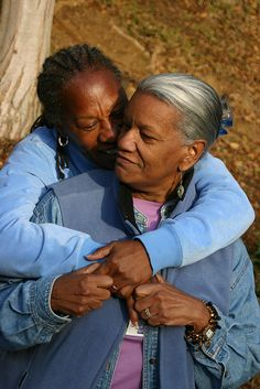 """Ruth & Zenobia ~ 23 yrs together. What is rare are images of elder #gays and #lesbians. Even more rare are images of black gay & lesbian elders."""