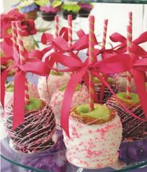 Chocolate covered apples for Hello Kitty Party