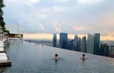 Infinity Pool Over Singapore