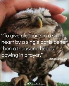 ....a single act....