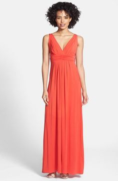 Tart 'Adrianna' Ruched Surplice Jersey Maxi Dress available at #Nordstrom