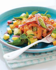 spring salad w/ miso dressing