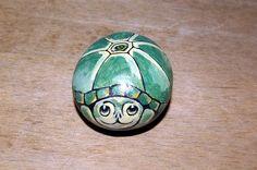 Turtle painted rock via Etsy