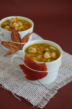 Leek and chickpea soup