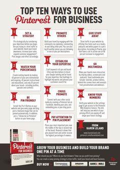 using pinterest for business, small businesses, entrepreneur magazin, business infographics