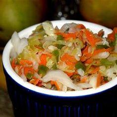 Curtido (El Salvadoran Cabbage Salad) Recipe...to go with pupusas