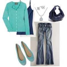comfy navy and turquoise