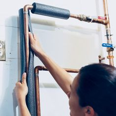 Wrapping your hot water pipes is one of the simplest energy- and water-saving projects.