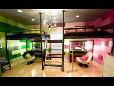 Boys and girls shared room-how awesome would this be?!
