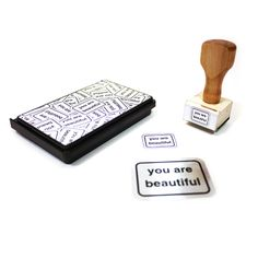 You Are Beautiful Rubber Stamp Kit