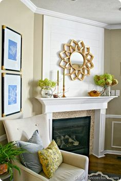 How to decorate a mantel -Fall mantel at @Christy Palmer Decor Chick