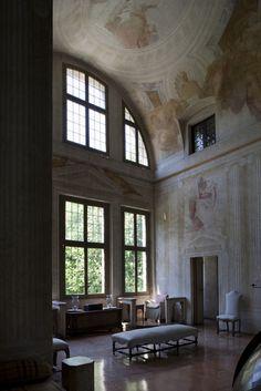 "Interior of Villa Foscari (""La Malcontenta"")."