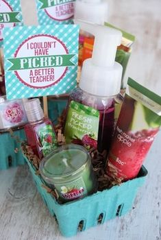 Berry Baskets for teacher appreciation