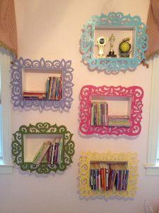 goodness. gracious. living - DIY shadow box book shelves for a girl's room