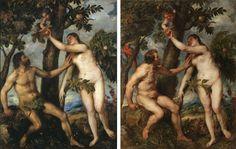 Harte con hache: Las siete diferencias entre el original de Tiziano y la copia de Rubens. Del post http://harteconhache.blogspot.com.es/2013/07/las-siete-diferencias-entre-tiziano-y.html
