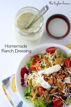 Delicious and light tasting Homemade Ranch Dressing that's perfect for salads and dips!