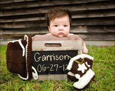 Adorable baby photo with name and date of birth
