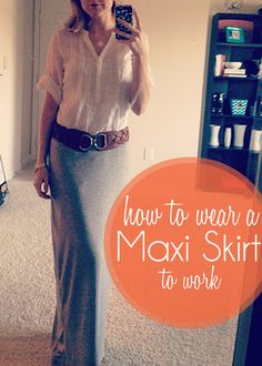 How to wear a maxi skirt to work Part 2 - @Jessika Williams