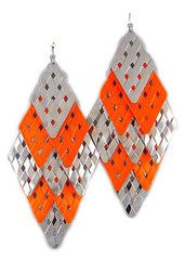 Eccentric Orange Cascade Earrings