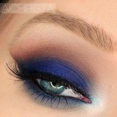 Royal Blue Smokey Eye!