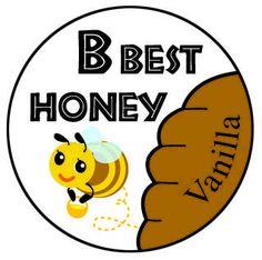 B Best Honey 1 inch Lip Balm label