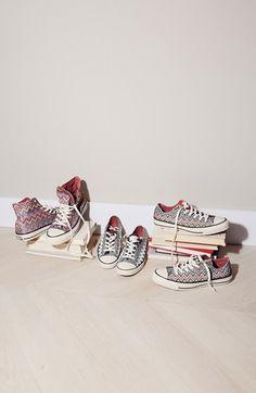 Converse meets Missoni. Love these chevron kicks!