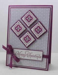 Mosaic Madness tiled Christmas card