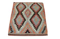 Hand Woven Turkish Oriental Kilim Rug,Antique,Anatolian,Colored with natural dyes wool,Modern home decor.small size Antalya kilim