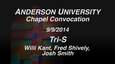 Willi Kant, Fred Shively, and Josh Smith shared the history and their experiences with the Tri-S program at Chapel on September 9. Watch and share your Tri-S memories: https://vimeo.com/106855939