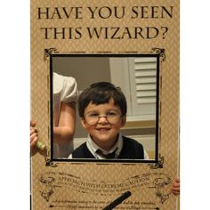 """Magic Wizard """"Have You Seen This Wizard?"""" - Printable Party Sign - Instant Download"""