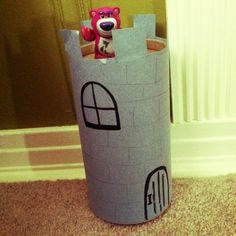 Recycled oatmeal container Castle – Toddler Activities, Games, Crafts