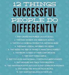 Successful people ....