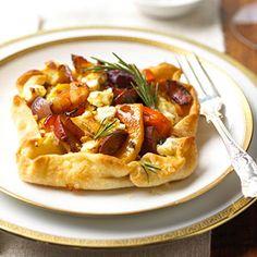 rustic winter, savory tarts, veget tart, food, winter veget, vegetables, bacon, recip, goat cheese
