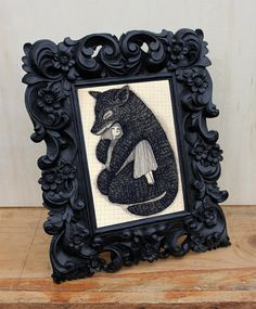 Picture frame. Ornate Resin Standing Picture by AnythingDiscovered, $28.00