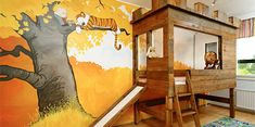 Bedroom designed by Katri Nurmela was inspired by the beloved Calvin and Hobbes comic strips.